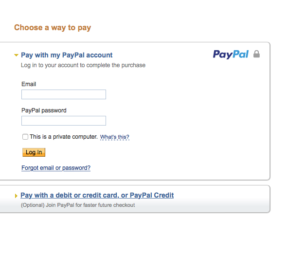 how to pay your paypal credit card online
